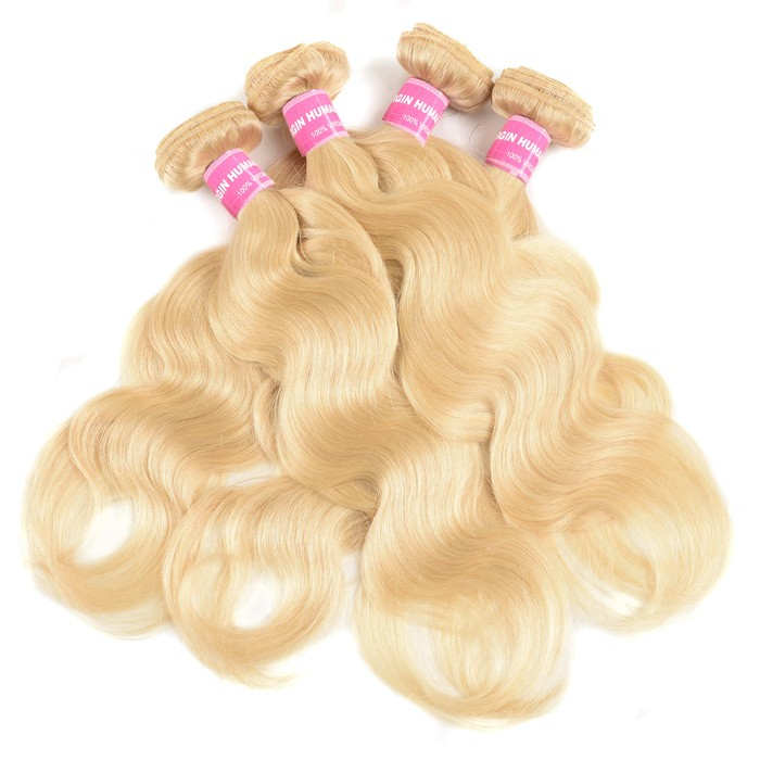 Kriyya Best Malaysian Human Hair Weave Body Wave Hair 4 Pcs 613 Color